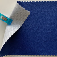 Medium Grain Faux Leather Pleather Fabric - COBALT BLUE