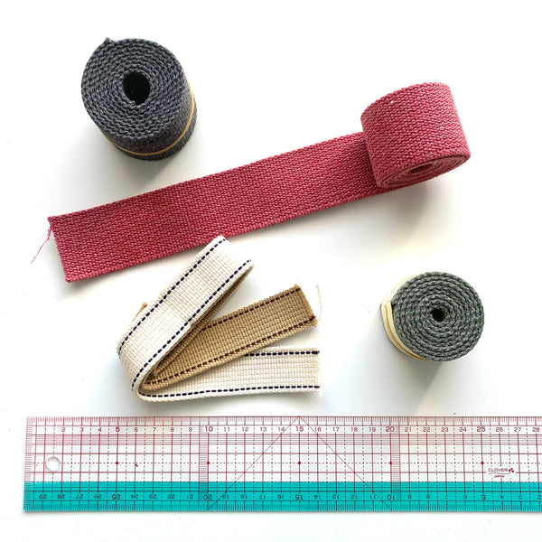Japanese Import Webbing Roll Ends - SELECTION #5