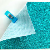 Meteor Metallic Faux Leather Pleather Fabric - TURQUOISE