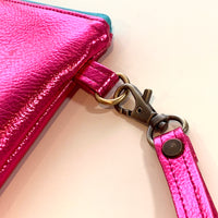 Stitched by Lisa - The Mirror Ball Wristlet - Hot Pink