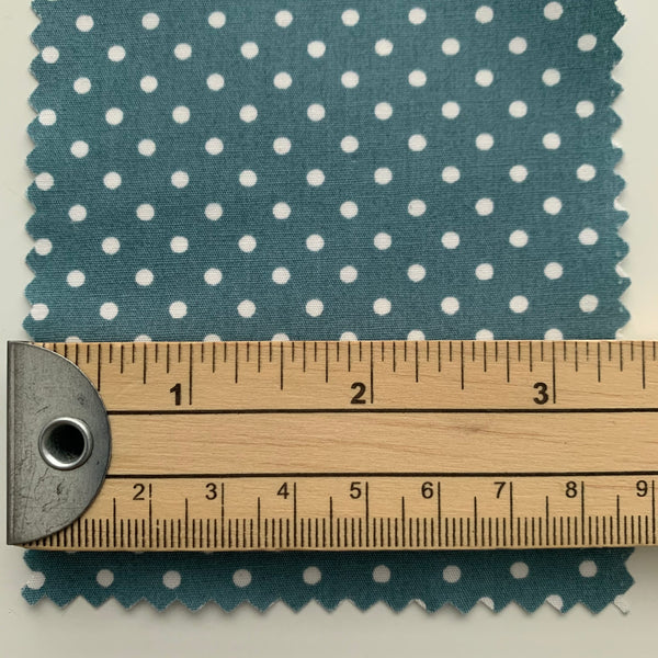 Rose & Hubble Cotton Poplin 3mm Polka Dots - ICE GREEN