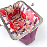 Easy Peasy Purse 2 Purse Making Kit with Fabrics - Plum Pop Peonies PU. LTD EDITION