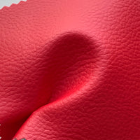 Medium Grain Faux Leather Pleather Fabric - LIPSTICK RED