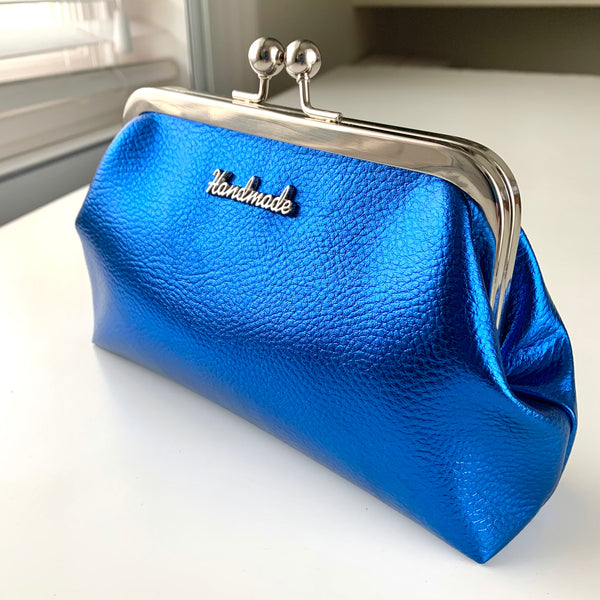 Stitched by Lisa - Mirror PU Clasp Purse - Mirror Disco Baby