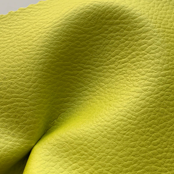 Medium Grain Faux Leather Pleather Fabric - LIME GREEN