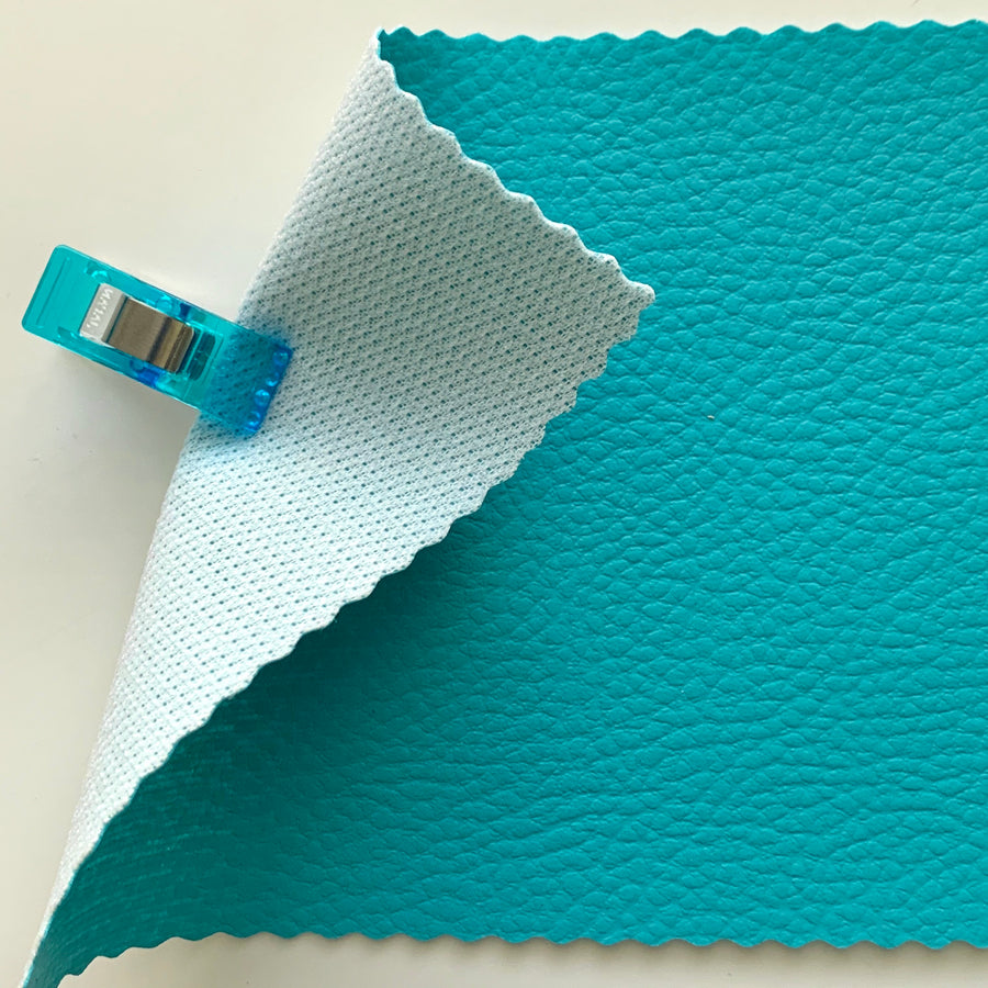 Medium Grain Faux Leather Pleather Fabric - TURQUOISE