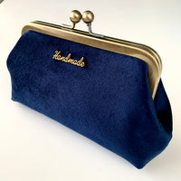 Stitched by Lisa - Velour Clasp Purse - MADE IN MIDNIGHT - ICE GREEN