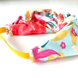 Stitched by Lisa - Adult Knotted Headband - Tropical Bloom