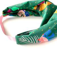Stitched by Lisa - Adult Knotted Headband - Party Birds