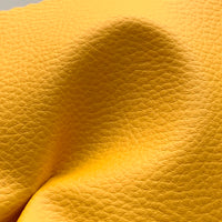Medium Grain Faux Leather Pleather Fabric - OCHRE YELLOW