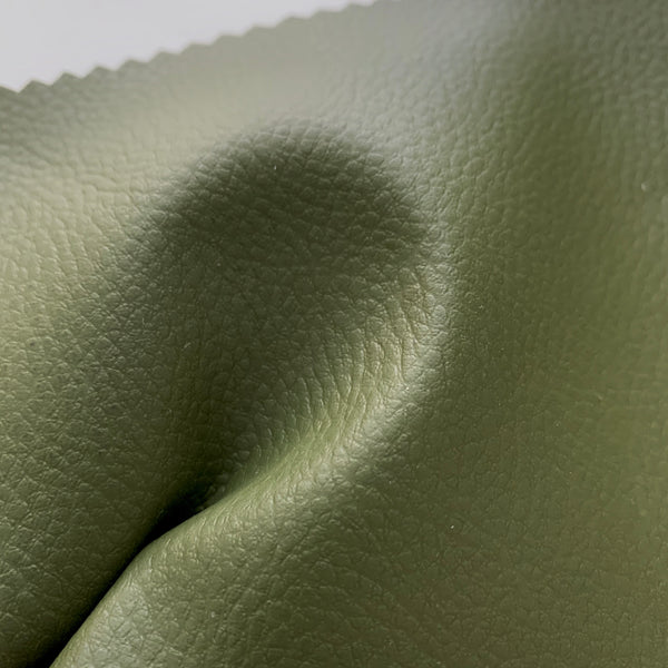 Medium Grain Faux Leather Pleather Fabric - FOREST GREEN