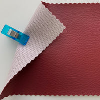Medium Grain Faux Leather Pleather Fabric - WINE