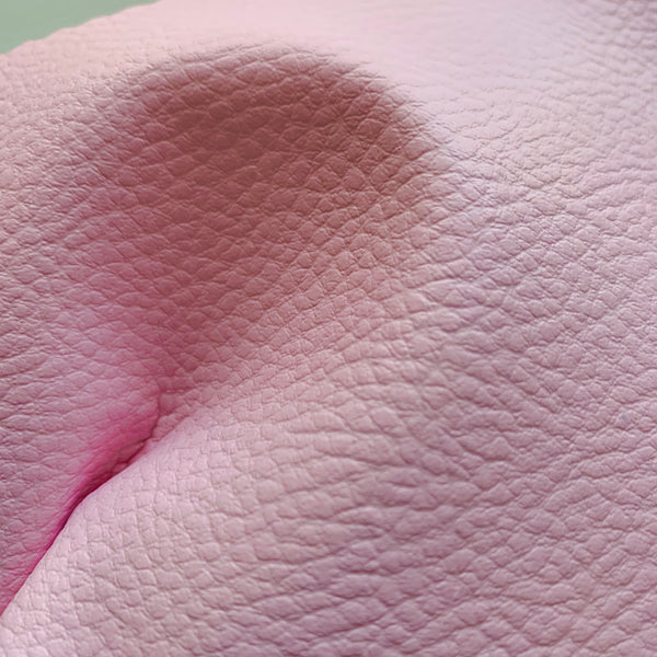 Medium Grain Faux Leather Pleather Fabric - SHELL PINK