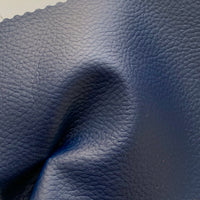 Medium Grain Faux Leather Pleather Fabric - NAVY BLUE