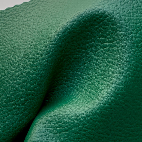 Medium Grain Faux Leather Pleather Fabric - JADE GREEN