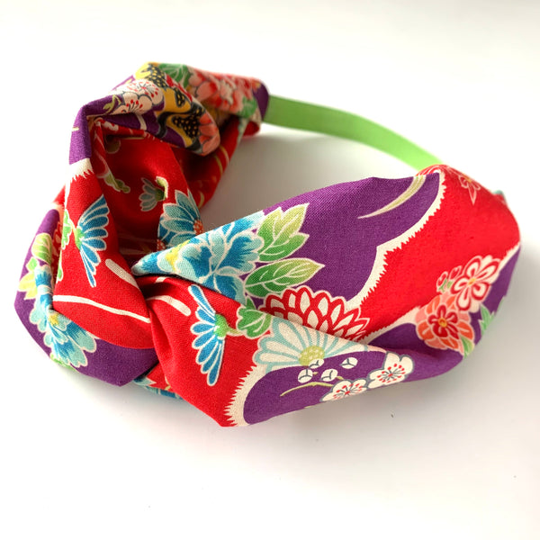 Stitched by Lisa - Adult Knotted Headband - Cloud Garden