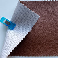 Medium Grain Faux Leather Pleather Fabric - CHOCOLATE BROWN