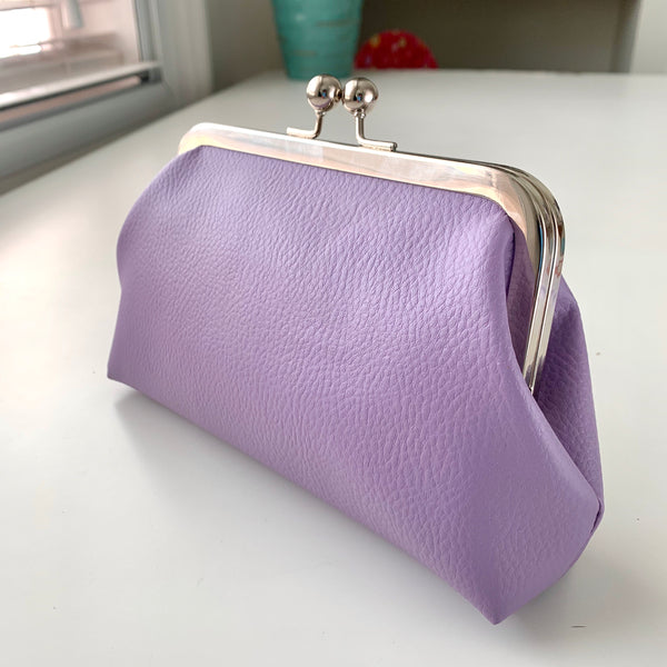 Stitched by Lisa - Faux Leather Clasp Purse - SEW LOVELY LILAC