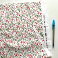 NEW REMNANT - CORAL LEAVES BY LIBERTY QUILT COTTON - 50 X 72CM
