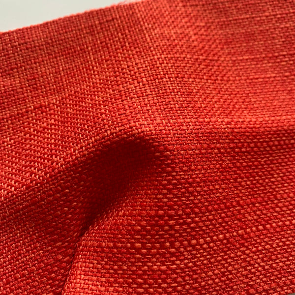 Tweed Linen-look Fabric - JAFFA ORANGE