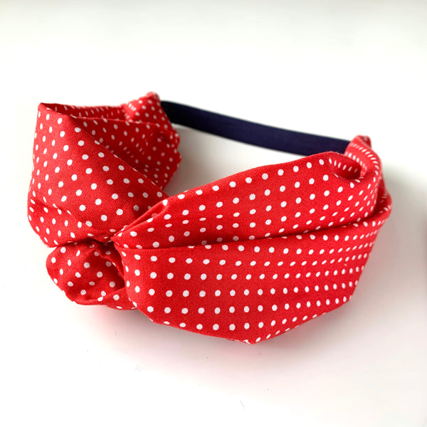 Stitched by Lisa - Adult Knotted Headband - Minnie Mouse