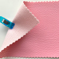 Medium Grain Faux Leather Pleather Fabric - BUBBLEGUM PINK