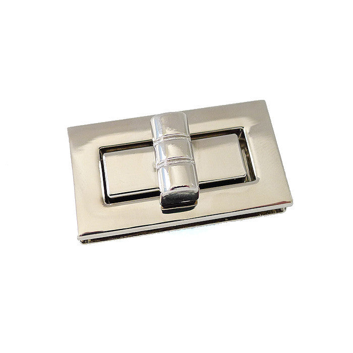 Purse Twist Turn Rectangle Lock - 2 colours