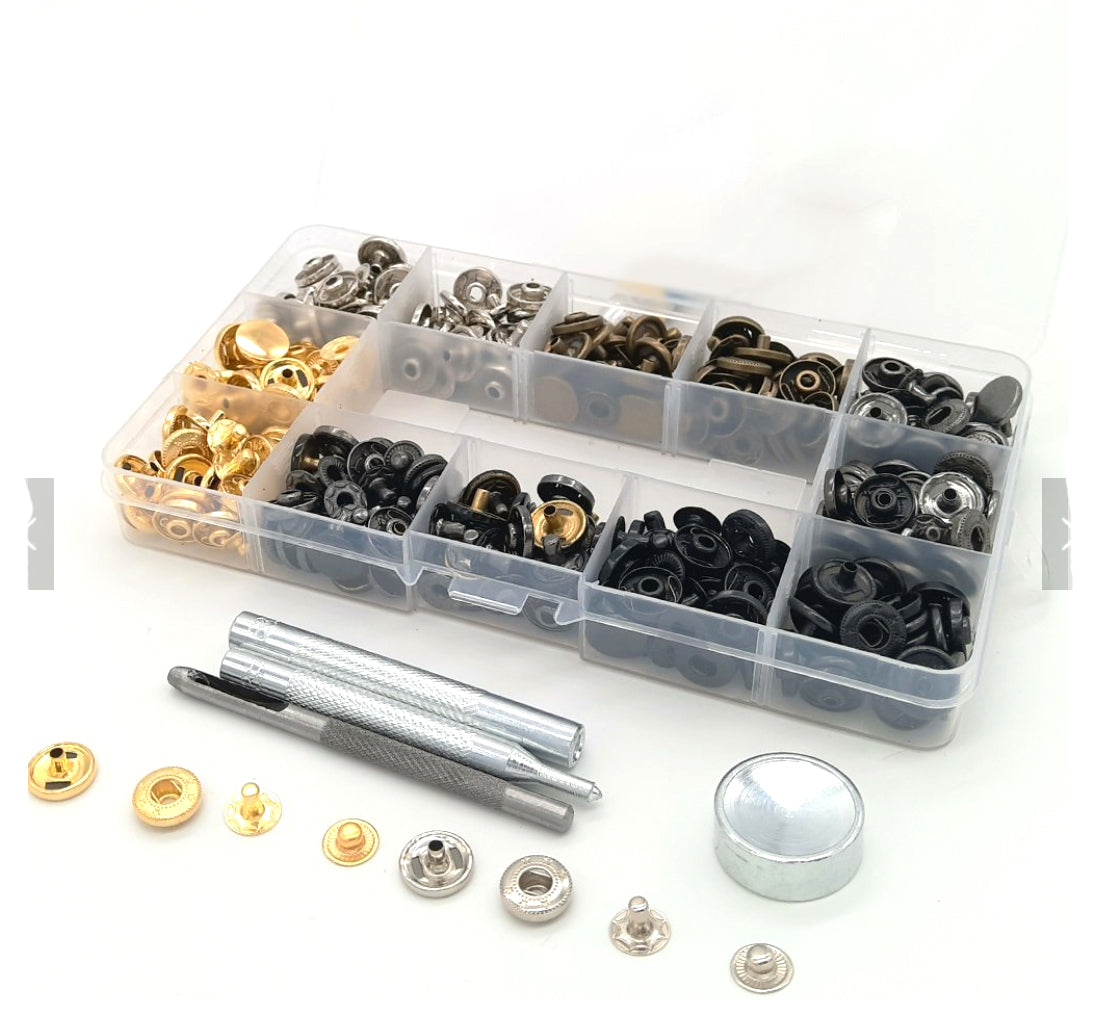 100 piece Press Stud Snap Kit