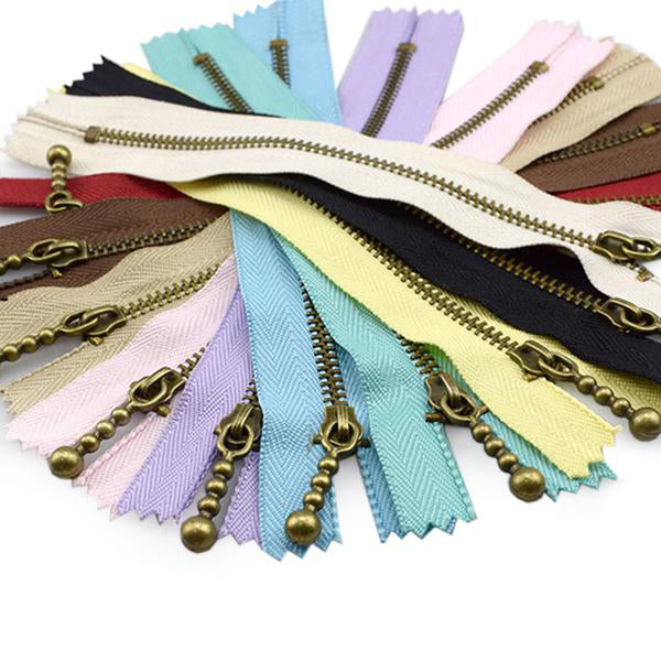 #3 Metal Ball Pull 20cm Zips - 10 Colour Pk