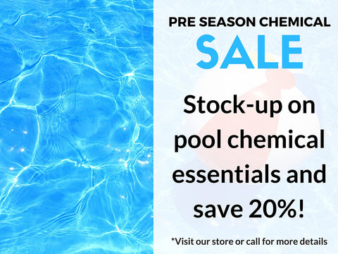 pre seaon pool chimcal sale