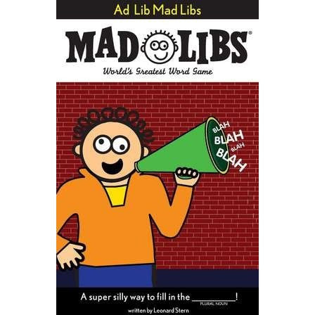 Mad Libs- Ad Lib Mad Libs - Activity Books - Anglo Dutch Pools and Toys