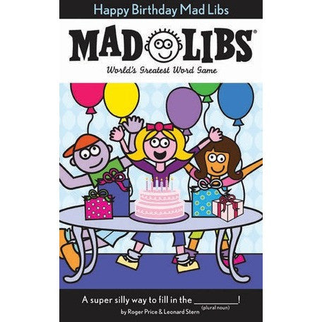 Mad Libs- Happy Birthday - Activity Books - Anglo Dutch Pools and Toys