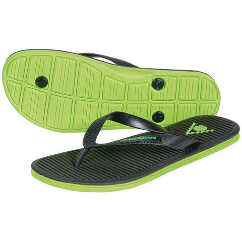 Aqua Sphere Hawaii Sandals- Black & Green - Adult Sandals and Flip Flops - Anglo Dutch Pools and Toys