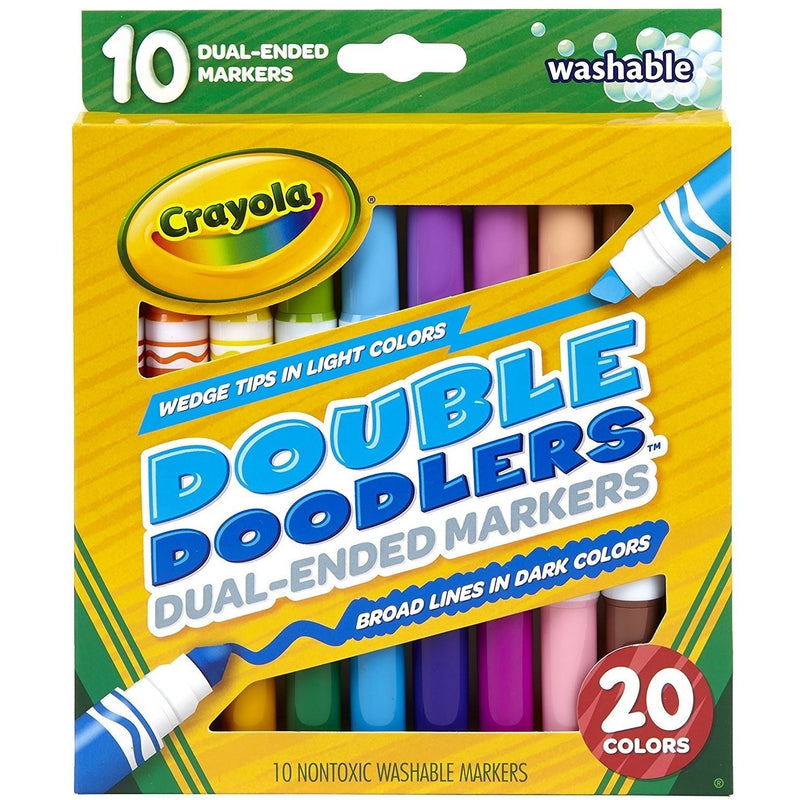 Crayola Dual-Ended Washable Double Doodlers Markers (10 ct)