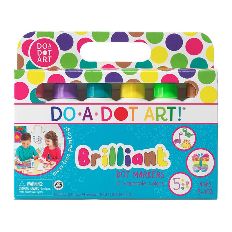Do-A-Dot Art! Brilliant Markers- 6 pack - Art Supplies - Anglo Dutch Pools and Toys