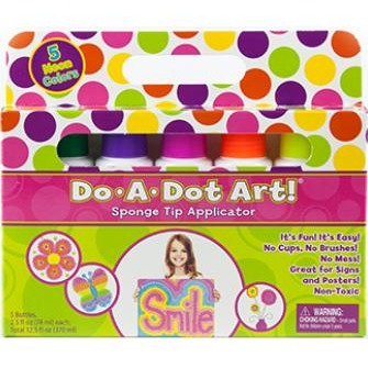 Do-A-Dot Art! Fluorescent Markers- 5 pack - Art Supplies - Anglo Dutch Pools and Toys