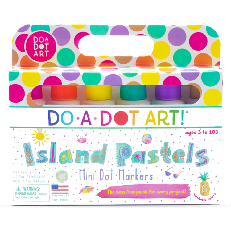 Do A Dot Art Mini Island Bright Markers 6 Pack Art Supplies