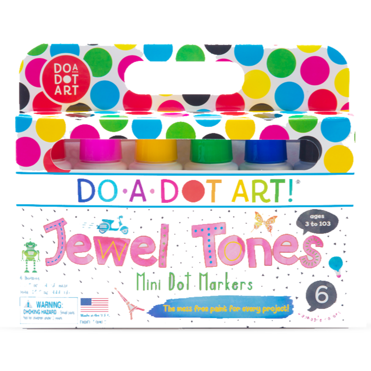Do-A-Dot Art! Mini Jewel Tone Markers- 6 pack - Art Supplies - Anglo Dutch Pools and Toys