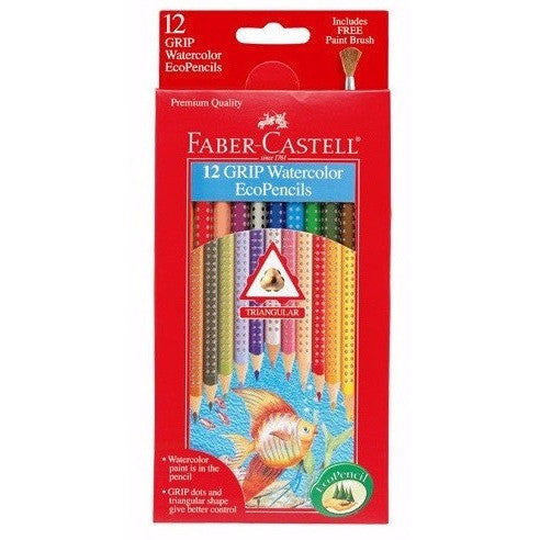 Faber-Castell Grip Watercolor EcoPencils - Art supplies - Anglo Dutch Pools and Toys