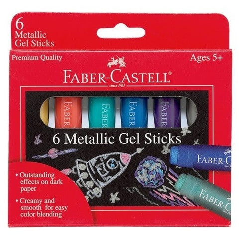 Faber-Castell Metallic Gel Sticks - Art supplies - Anglo Dutch Pools and Toys