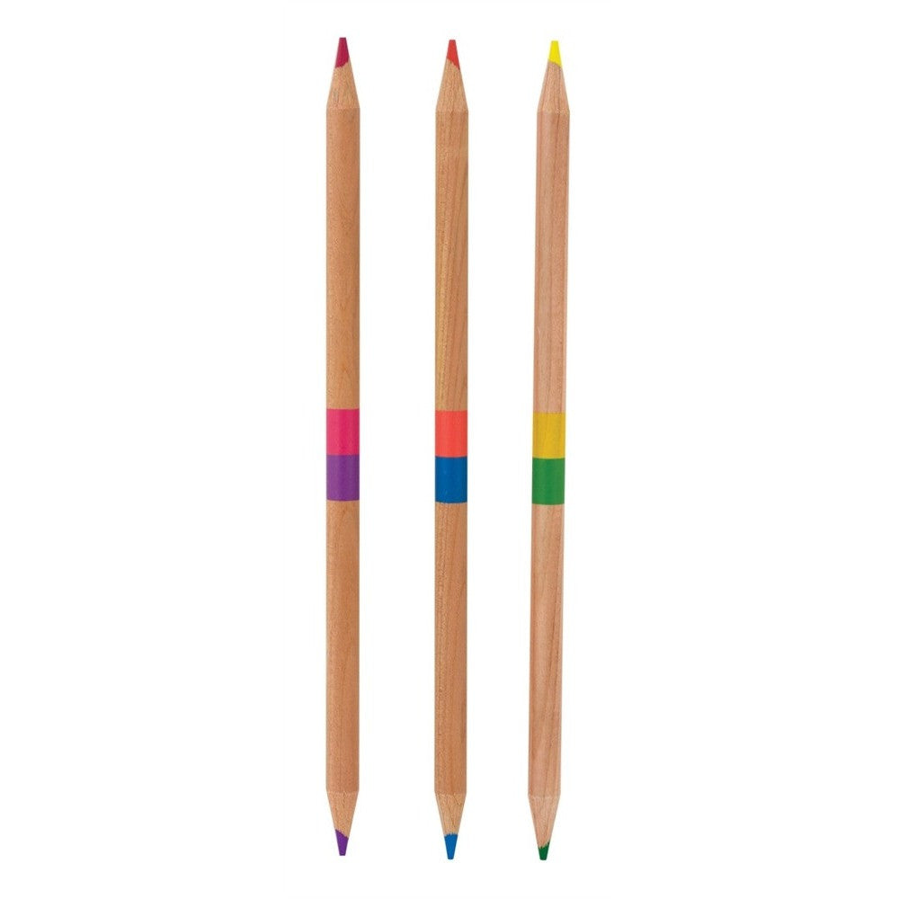 Double Ended Colored Pencils 2 OF A KIND COLORED PENCILS International Arrivals
