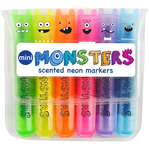 International Arrivals Mini Monsters Scented Markers- - Anglo Dutch Pools & Toys  - 1