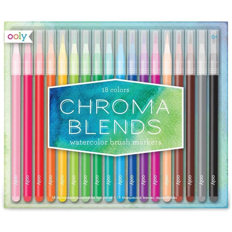 Art Supplies - OOLY Chroma Blends Watercolor Brush Markers