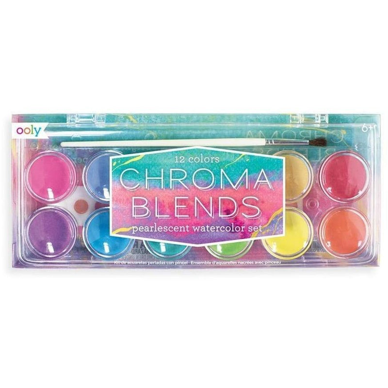 Art Supplies - OOLY Chroma Blends Watercolor Paint Set - Pearlescent