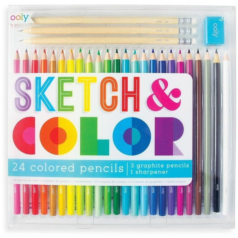 Art Supplies - OOLY Sketch And Color Colored Pencil Set - 28 Pieces