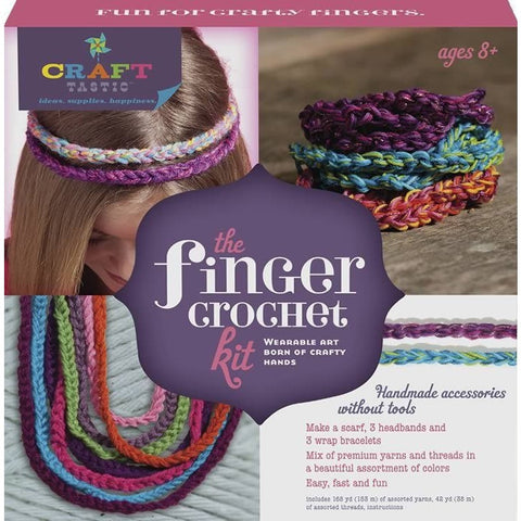 Craft-tastic Finger Crochet Kit - Craft Kits - Anglo Dutch Pools and Toys