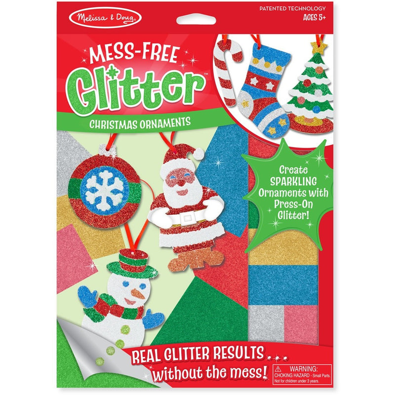 Melissa & Doug Mess-Free Glitter Christmas Ornaments - Craft Kits - Anglo Dutch Pools and Toys