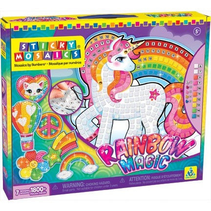Sticky Mosaics® Rainbow Magic - Craft Kits - Anglo Dutch Pools and Toys