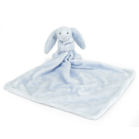"Jellycat Bashful Blue Bunny Soother 13"" - Baby and Infant Plush Items - Anglo Dutch Pools and Toys"