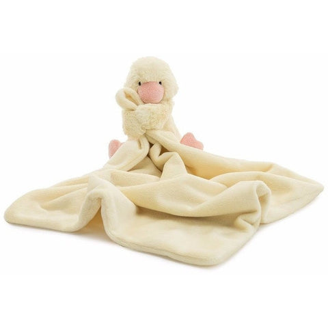"Jellycat Bashful Duckling Soother 13"" - Baby and Infant Plush Items - Anglo Dutch Pools and Toys"